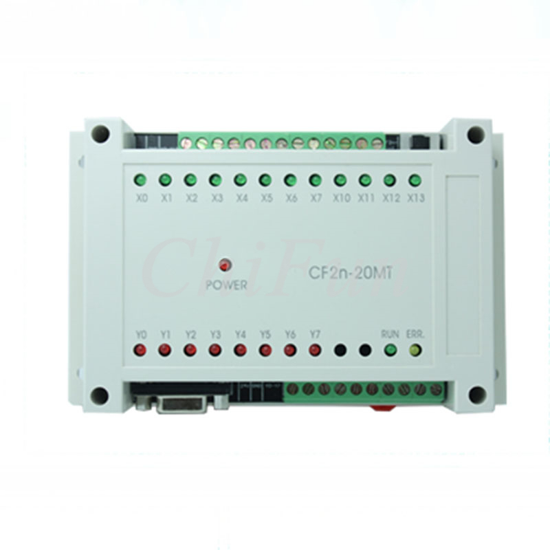 FX2N 20MT PLC industrial control board DC24V 12 way input 8 way transistors output RS232 RS485