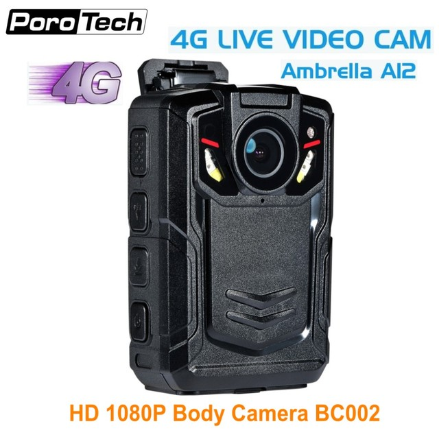 2018 newest 3G 4G GPS WIFI Body Worn Camera BC002 1080P 4G video camera with Ambarella A12 GPS live tracking IR Night vision
