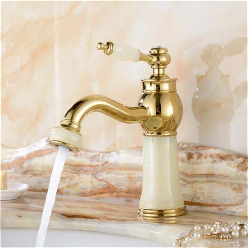 HDM Bathroom Accessories Basin Faucets Modern Jade Marble Flexible Bathroom Faucet Basin Mixer