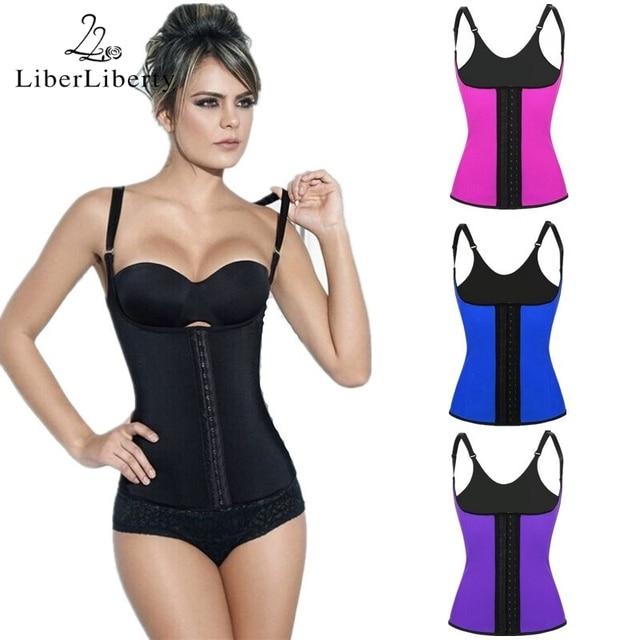 6b765650217 Women Waist Trainer Slimming Corset Rubber Waist Cincher Vest Shoulder  Straps Body-hugging Vest Plus Size Hot Sale Body Shaper