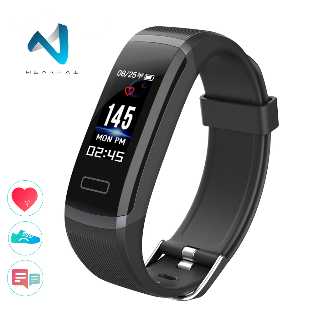 Wearpai Color Screen Smart Bracelet GT101 Waterproof 24hours Heart Rate  Monitor Fitness Tracker Bluetooth Smart Watch for Sport