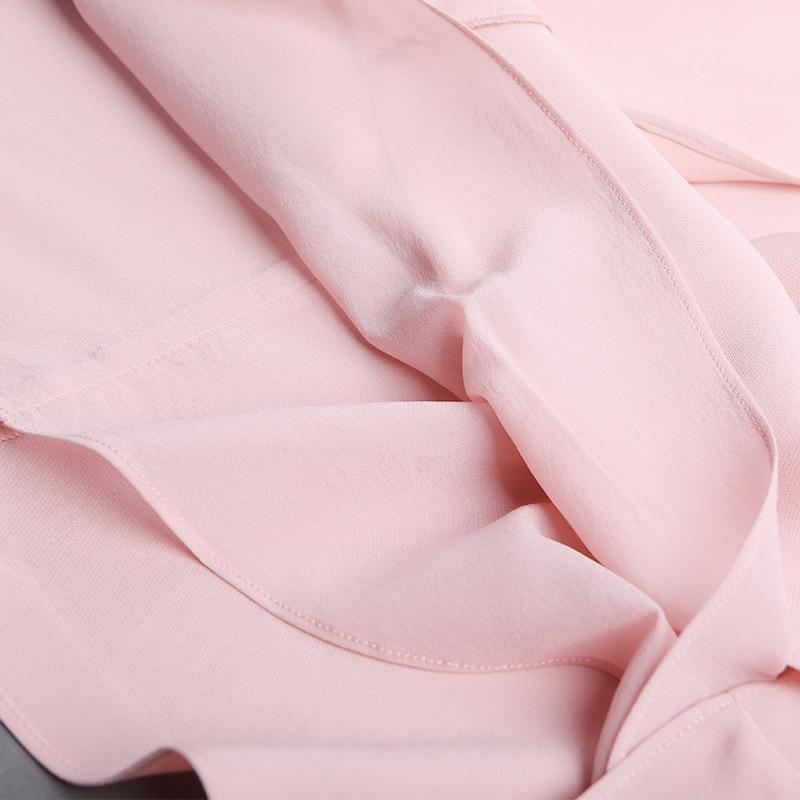 Voa Perle H16 Manches Robes À De Sukienki Taille Robe Élégant A7717 La Rose Bureau Plus Longues Midi Modis Femmes Perles Befree Soie 4tZqrw41