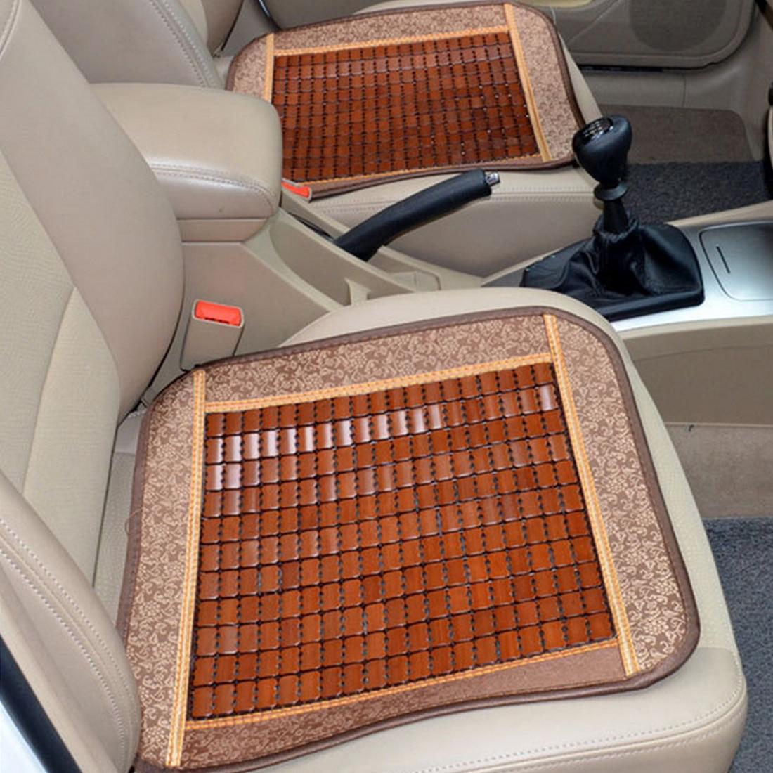 Dewtreetali Bamboo car seat cushion wood beads Square General cover summer ventilation