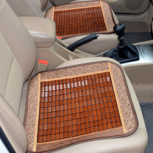 Dewtreetali Bamboo car seat cushion wood beads Square General cover summer ventilation