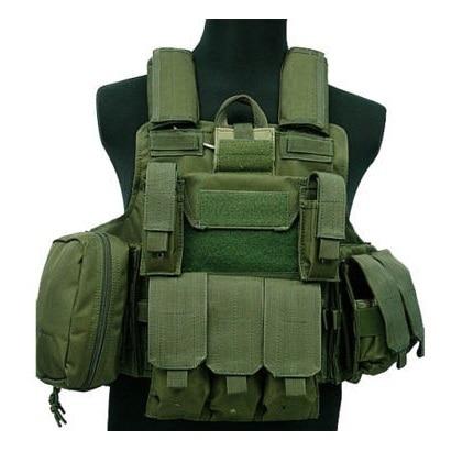 17c27032b91 Tactical Vest CS Wargame Airsoft Paintball MOLLE CIRAS Combat Vest CIRAS Tactical  Vest With Triple Magazine Pouch ACU WOODLAND