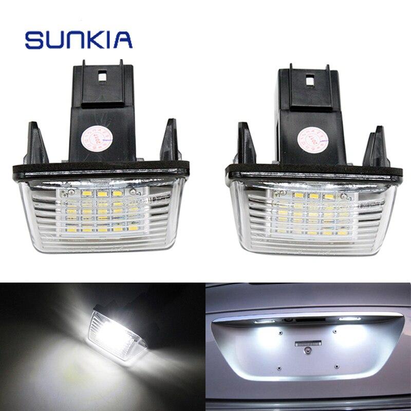 2шт/набор SUNKIA LED номерной знак света лампы для Ситроен С3 С4 С5 Берлинго, Саксо Ксара Пикассо