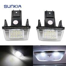 2 шт./компл. sunkia LED номерной знак свет лампы для Citroen C3 C4 C5 Berlingo Saxo Xsara Пикассо