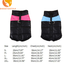Winter Warm Pet Dog Vest Clothes Goods Waterproof Zip-up Coat Jacket For Small Dogs Puppy Cat Raincoat Apparel DOGGYZSTYLE