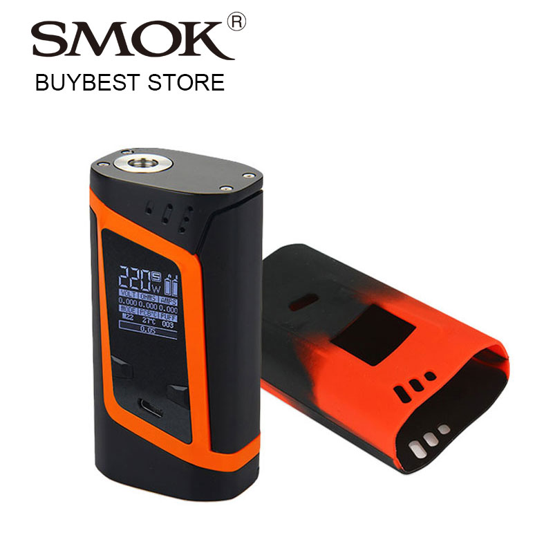 Original 220W SMOK Alien Box Mod with Silicone Case Cover VW/TC MOD Electronic Cigarette for 510 Vape Tank Atomizer e-Cigarette e xy electronic cigarette spring terminal connector loaded 510 connector for diy mod 510 spring connector box mod for vape