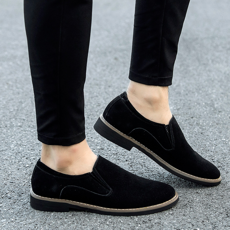 2020 Suede Leather Slip On Loafers Men