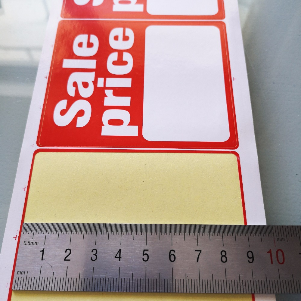 1000 шт./партия 76x89 мм распродажа ценник магазин рекламная бумажная этикетка наклейка, пункт № PD13