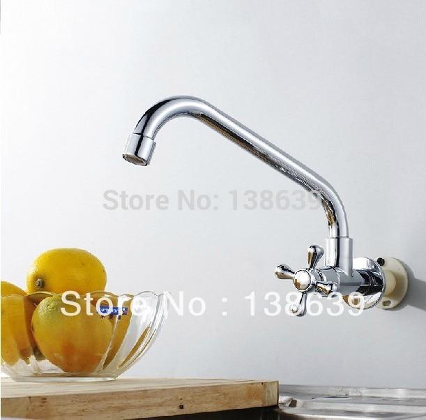 Free Shipping wall mounted brass kitchen faucet bathroom kitchen mixer tap basin faucet Washing machine faucet