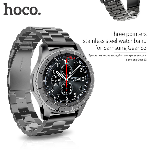 gear s3 frontier accessori  HOCO Classic Stainless Steel Wrist Strap For Samsung Galaxy Gear S3 ...