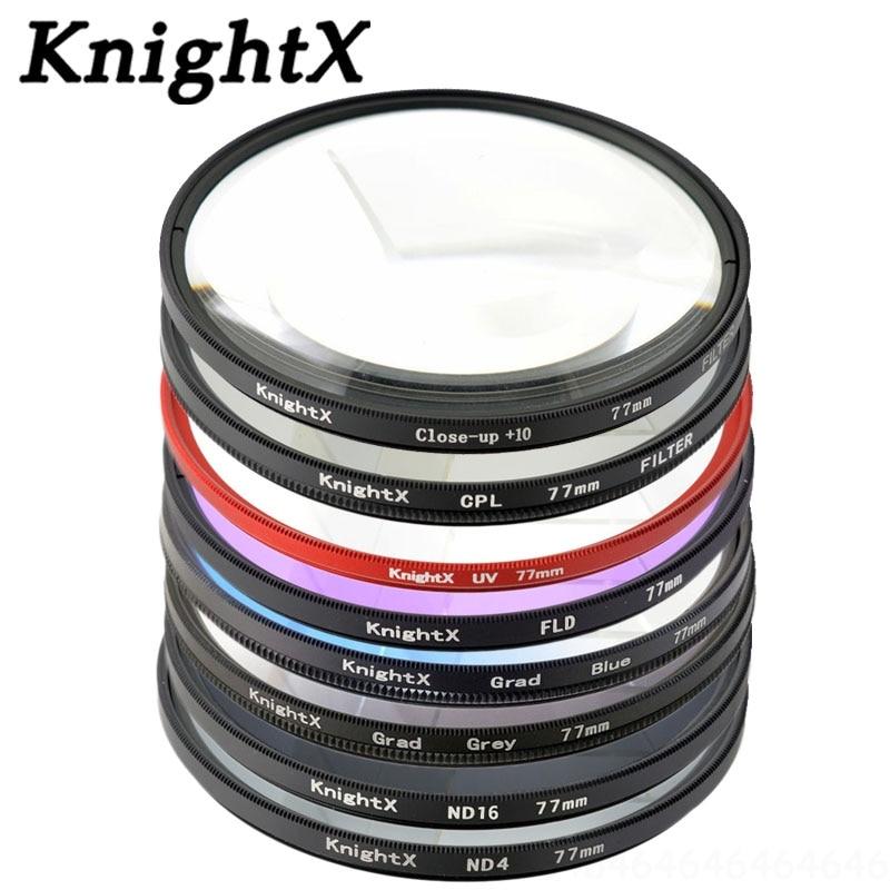KnightX 49 52 55 58 67 77 mm UV-CPL filter voor Sony Pentax Nikon - Camera en foto