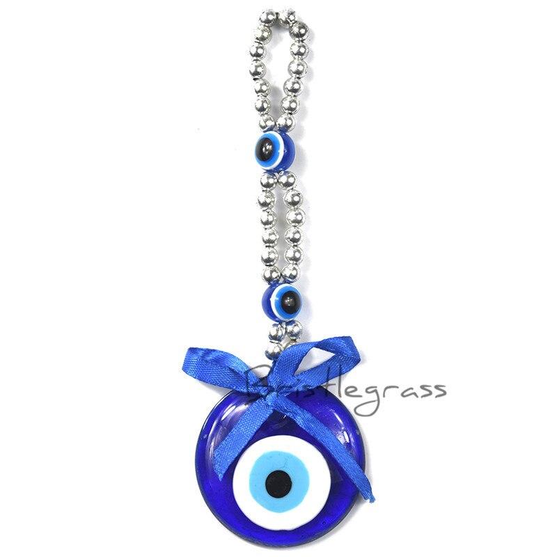 BRISTLEGRASS Turkish Blue Evil Eye Ribbon Bowtie Wall