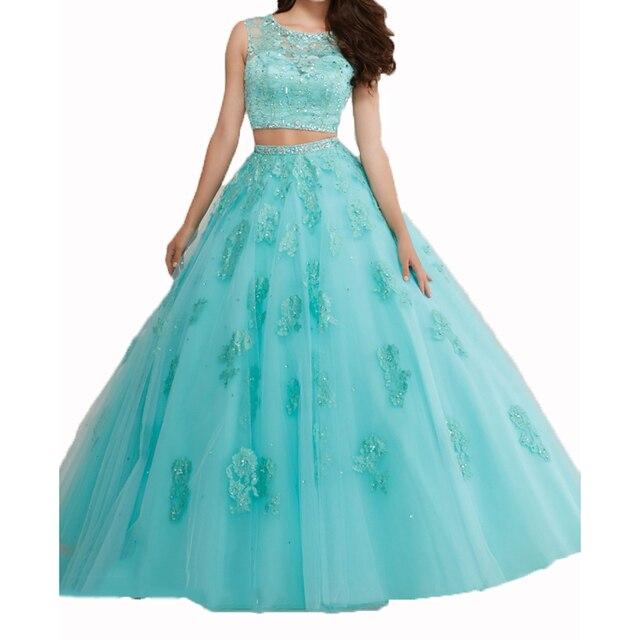Imagenes de vestidos de 15 en color azul