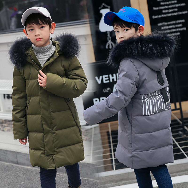 1ed12234306c Winter Children S Down Jackets Parkas Teenager Big Boy Coats Kids ...