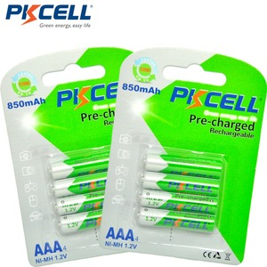 Image 4 - PKCELL 8Pcs/2card  AAA Battery NIMH aaa Low Self Discharge 3A Rechargeable Ni MH 850mAh 1.2V Batteries Bateria