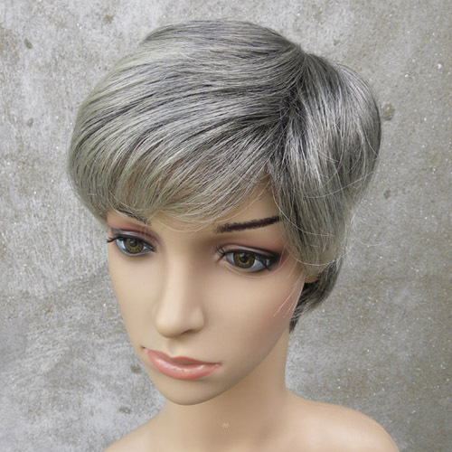 Quinquagenarian wifing short hair straight hair wig women's wifing the elderly wig z18
