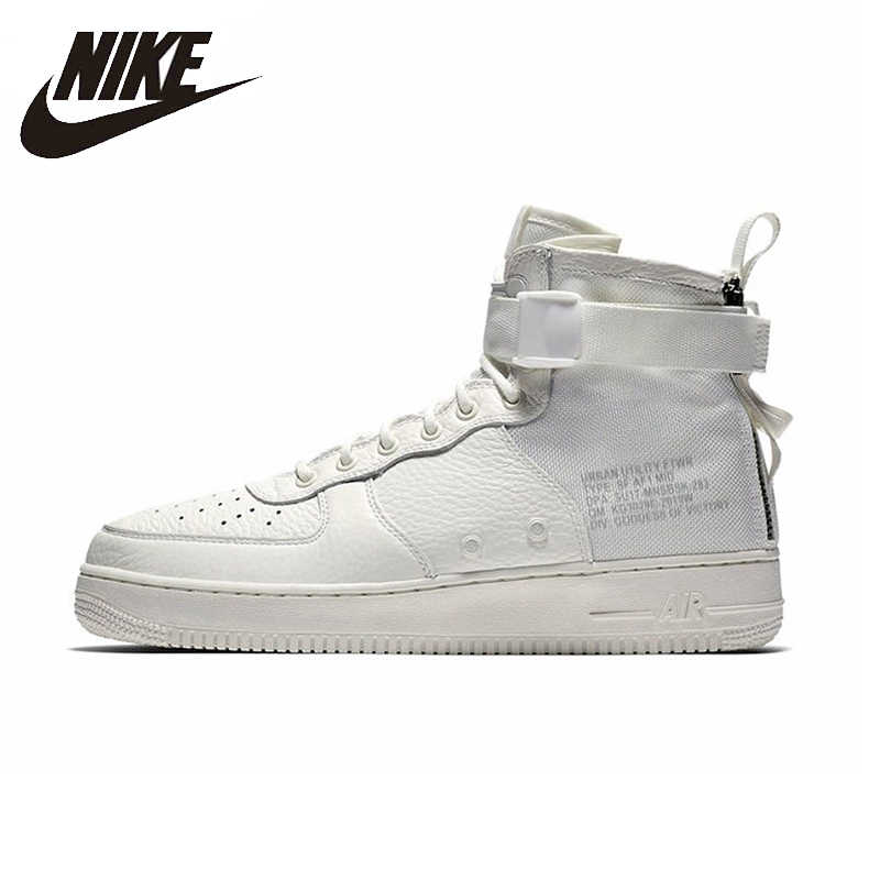 factory authentic ca3de f5a76 NIKE SF AF1 Mid Air Force 1 Mens And Womens Basketball Shoes Stability  Support Sports Sneakers