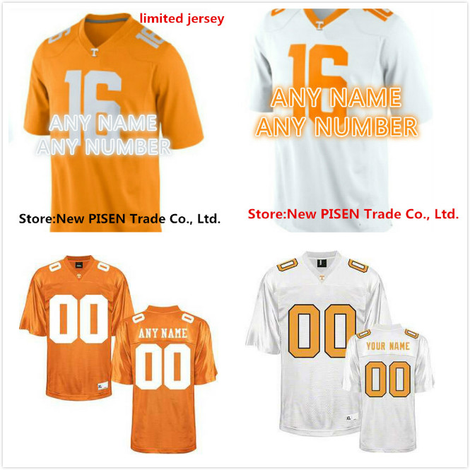 dfea4249dba ... Cheap Customized stitched Personalized 2015 Tennessee Volunteers Jersey  White Orange College Football Jerseys For Men Women .