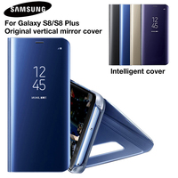 SAMSUNG Original Mirror Cover Clear View Flip Phone Case For Samsung Galaxy S8 S8 S8 Plus