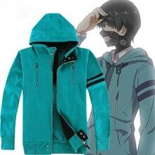 6 รูปแบบอะนิเมะ Tokyo Ghoul Kaneki Ken คอสเพลย์เครื่องแต่งกาย Unisex Hoodies Hooded Cardigan Jacket