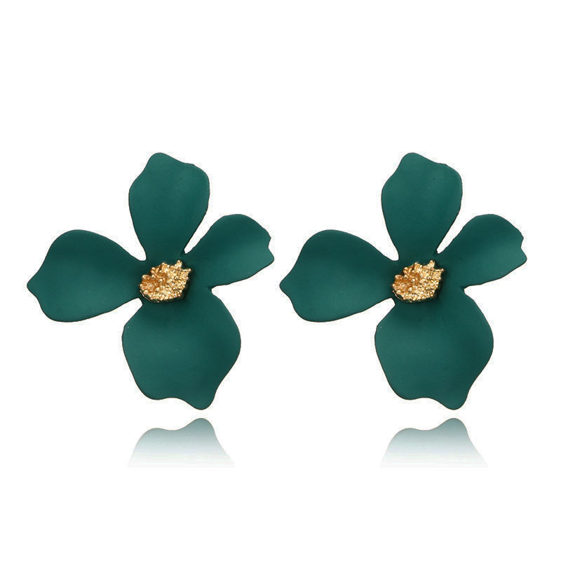 5-Colors-Spray-Paint-Flower-Stud-Earrings-For-Women-Fashion-Ear-Jewelry-Korea-Sweet-Lovely-Brincos