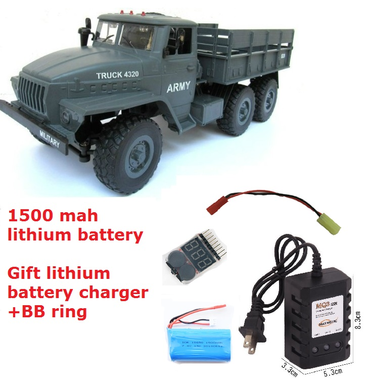 WPL Upgrade RC Crawler Military Truck 6X6 Ural Radio Controlled Cars Off Road RC Car Parts 1:12 simulation Man War truck Gift