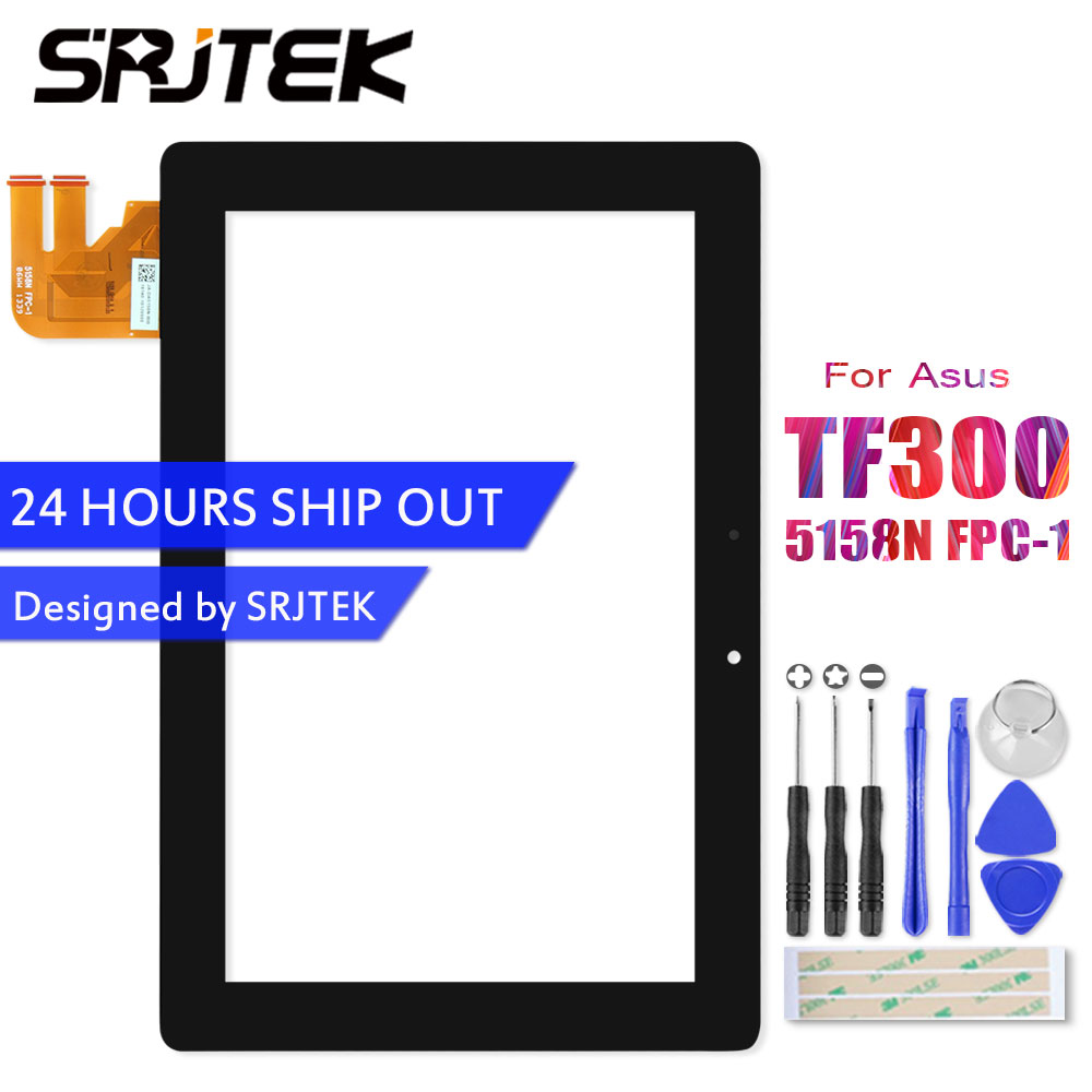 Srjtek Touch Screen For Asus Transformer Pad TF300 TF300T TF300TG TF300TL 5158N FPC-1 Panel Digitizer Glass Sensor Replacement new 7 fpc fc70s786 02 fhx touch screen digitizer glass sensor replacement parts fpc fc70s786 00 fhx touchscreen free shipping