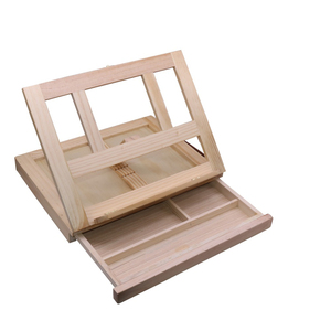 Image 2 - 1 pcs Wooden Drawer Painting Frame Folding Easel Watercolor Oil painting Frame Sketch Wooden Box Portable Art Supplies