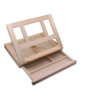 Image 2 - Moldura de madeira para pintura de gavetas, moldura dobrável para pintura a óleo, aquarela, caixa de madeira, materiais de arte portátil, 1 peça