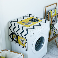 Hand painted trend washing machine cover Roller automatic refrigerator dust proof sunscreen cloth