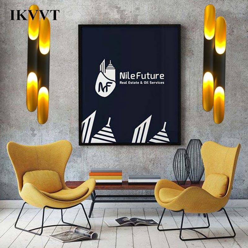 IKVVT Mordern креатсветодио дный ивный светодиодный настенный светильник алюминиевый корпус светильник спальня прикроватная гостиная домашняя ...