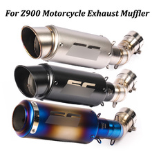 Slip on For Kawasaki Z900 2017 2018 2019 Motorcycle Exhaust Muffler Pipe Modified With Middle Connection Link Pipe Full System
