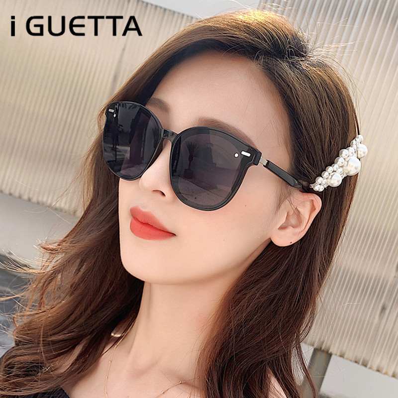 i GUETTA Women Round Sunglasses 2019 Black Men Sunglass Retro Fashion Sun Glasses Women Brand Designer Lentes De Sol IYJA468 in Women 39 s Sunglasses from Apparel Accessories