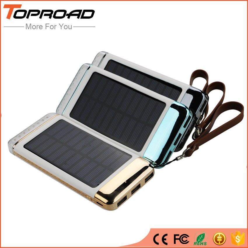 bilder für Tragbare Solar Power Bank 8000 mAh LED Lampe Camping Outdoor Power Externe Handy-akku Ladegerät Pack bateria externa