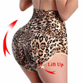 Leopard Print slimming underwear butt lift and tummy control panties booty lifter women body shaper buttock shorts bum lifting