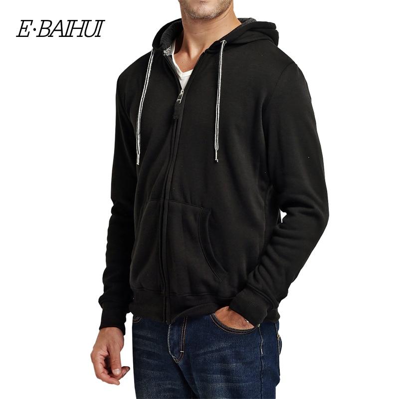 Muška odeća ... Duksevi ... 32742711192 ... 5 ... E-BAIHUI 2019 new autumn cotton zipper coats men's fashion hoodies and sweatshirts man casual winter hoodies men jacket 5742 ...