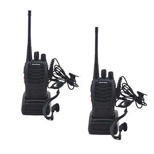 Image 1 - 2 개/몫 BAOFENG BF 888S 워키 토키 UHF 양방향 라디오 baofeng 888s UHF 400 470MHz 16CH 휴대용 송수신기 이어 피스