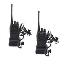 2 pz/lotto BAOFENG BF Walkie talkie UHF radio bidirezionale baofeng bf-888 s UHF 400-470 MHz 16CH Portable ricetrasmettitore con Auricolare