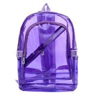 Transparent Clear PVC Backpack Exquisite Women Jelly Bag Transparent Bookbag Crystal Beach Bag Portable(Purple)