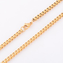 Men's Retro Style Thin Stainless Steel Chain Necklace