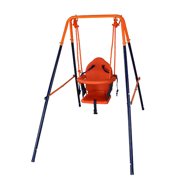 free shipping Full steel pipe baby child indoor swing outdoor slide ...