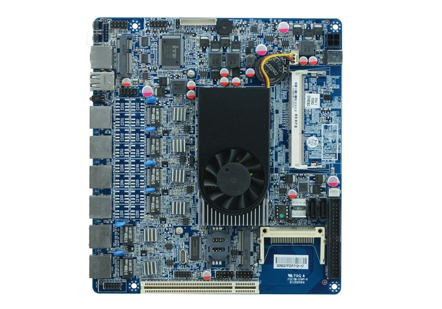 Factory sale D525 motherboard 6 Gigabit Ethernet ports ROS wayos firewall motherboard D52SL 3G WIFI SSD 2 COM 2SATA CF IDE DC12V