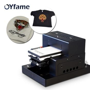 OYfame A3 Flatbed Printer t-shirt Printing Machine dtg printer a3  For Clothes Jeans Bag Shoes Dark Light t-shirt DTG Printer