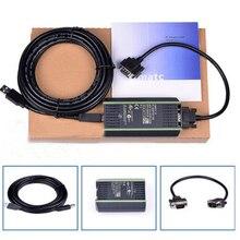 Высокое качество Новый ПЛК кабель для Siemens S7 200/300/400 6ES7 972-0CB20-0XA0 USB-MPI + PC USB-PPI