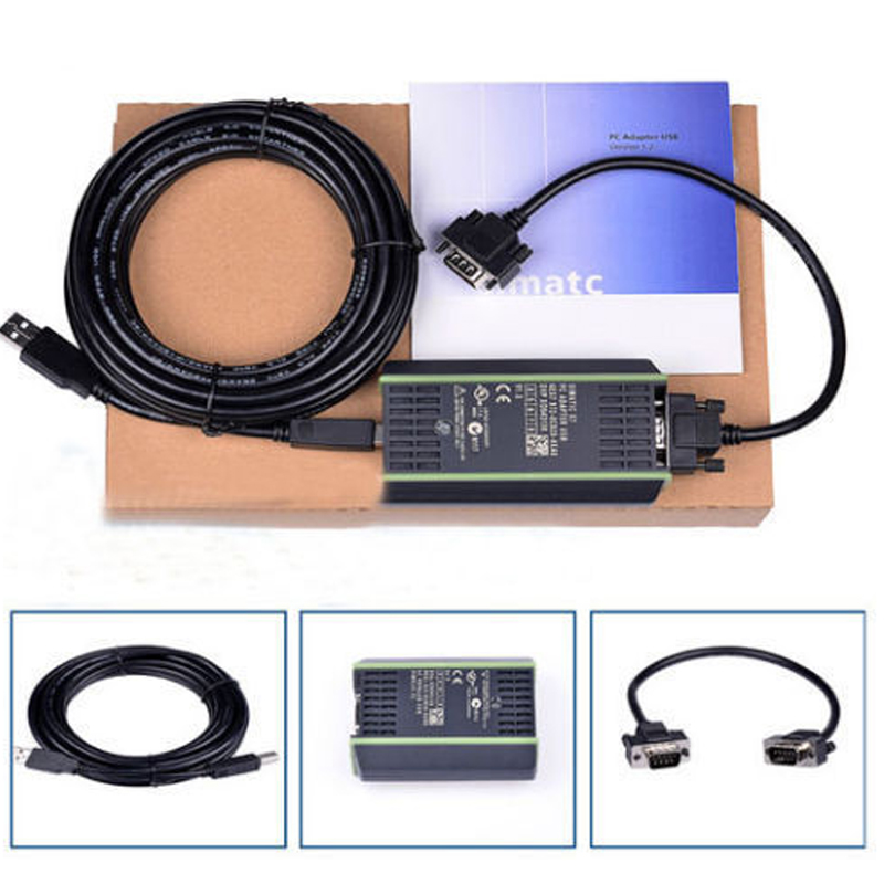 High Quality New PLC <font><b>Cable</b></font> for <font><b>Siemens</b></font> S7 200/300/400 6ES7 972-0CB20-0XA0 USB-<font><b>MPI</b></font>+ PC USB-PPI image