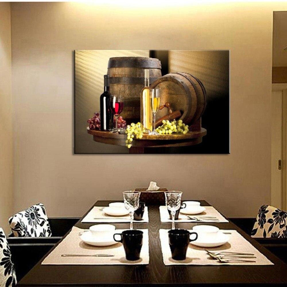 2017 Wall Art Fruit Grape Red Wine Glass Picture Art For: New 2017 Modern Still Life Wine Bottles Wall Art Painting