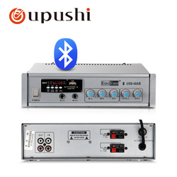 Oupushi USB-40AB 40W Mini Bluetooth Digital Amplifier PA System 2-way Microphone Input USB Playback Support For Mobile Phone